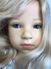 "25"" Gotz Limited Dolls Lindner ""Michelina"" Christmas Harp Angel Beautiful W/ Box"
