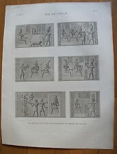 DESCRIPTION DE L'EGYPTE, 1809, ILE DE PHILAE PLANCHE 22