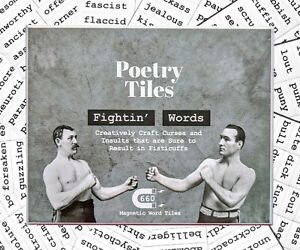 Poetry Tiles - 536 Fightin' Words Word Magnets - Obscenities, Insults, Swear