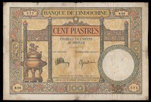 INDOCHINE - 100 PIASTRES Pick n° 51c. de 1932-1935. en TB   B.88 575