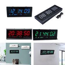 Grande Moderno LED Digital Reloj De Pared Fecha Temperatura 24 ó 12 Hora Oficina