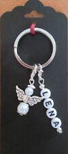 Individueller Schlüsselanhänger mit 1 Namen, Schutzengel Wunschname Name,Engel
