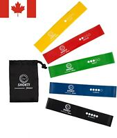 """Resistance Loop Bands Set of 5 Exercise Yoga Fitness Crossfit Latex 12""""×2"""" size"""