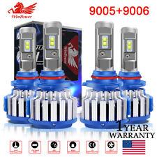 9005 HB3 + 9006 HB4 CREE LED Headlight Kit Bulbs Hi/Lo Beam 70W 6000K White USA
