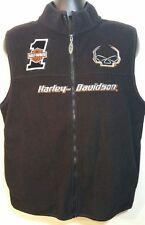 Mens Harley Davidson Medium Fleece Sleeveless Vest House of Thunder California