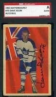 Dave Keon 1963 64 Parkhurst SGC Coa Autograph Authentic Hand Signed