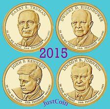 2015-P PRESIDENTIAL DOLLARS SET TRUMAN EISENHOWER KENNEDY JOHNSON UNCIRCULATED