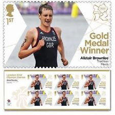 GB Olympic Gold Medal Alistair Brownlee Triathlon Men's sheet MNH 2012