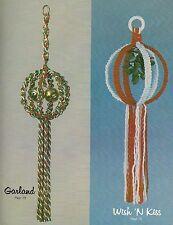 Hanging Bells & Mistletoe Patterns - Macrame Craft Book: GS13 Christmas Elegance