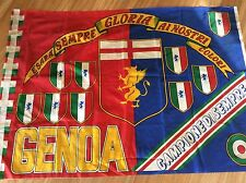 BANDIERA STADIO CALCIO ULTRAS ULTRA' GENOA CRICKET FOOTBALL CLUB 1893 SCUDETTI