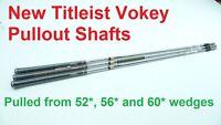 3 Titleist Dynamic Gold Wedge Golf Club Shafts   .355   New Titleist Vokey Pulls
