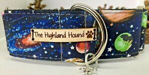 """2"""" Solar Handmade Martingale Dog Collar Greyhound, Whippet, Lurcher, Saluki"""