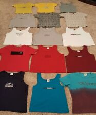Huge Lot 90's Vintage Calvin Klein Crop Top Short Shirt CK Jeans Large One Size