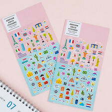 Ardium World Landmark Cute Stickers 2EA for Planner Book Calendar Point Decor