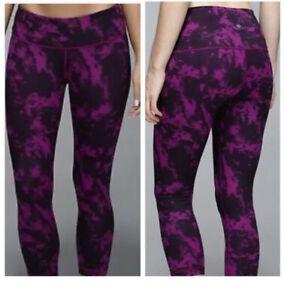 Lululemon Purple & Black Yoga Pants Leggings  Womens 6