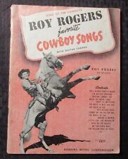 1943 ROY ROGERS Favorite Cowboy Songs Song Book VG 23 Songs w/ Guitar Chords 72p