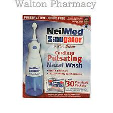 Neilmed SINUGATOR cordless pulsating nasal wash with 30 premixed sachets saline