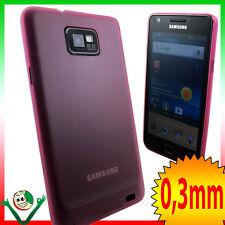 Custodia ultra super sottile 0,3mm FUCSIA per Samsung Galaxy SII i9105 S2 Plus