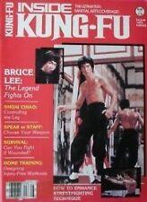 8/83 INSIDE KUNG FU MAGAZINE BRUCE LEE SHUAI CHIAO KARATE BLACK BELT MARTIAL ART