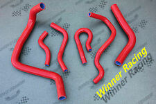 SILICONE RADIATOR&HEATER HOSE HONDA CIVIC SI/SIR EM1 B16A2 COUPE 1999 2000 RED