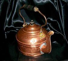 Marshall Wells Rome Copper Tea Kettle 1894-1903 Tin Lined Lid W/Steel Bail Rare