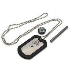 ARS 4-in-1 Dog Tag Survival Knife - Emergency Kit - Firestarter, Compass, Mirror