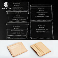 WUTA Card Case Mini Card Holder Template Clear Acrylic Leather Pattern WT818