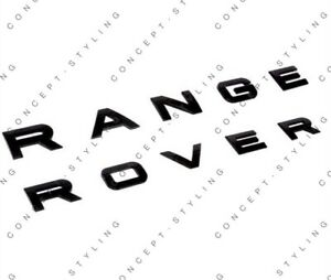 RANGE ROVER MATT BLACK BADGE/EMBLEM BONNET/BOOT FOR VOGUE/SPORT/EVOQUE UK