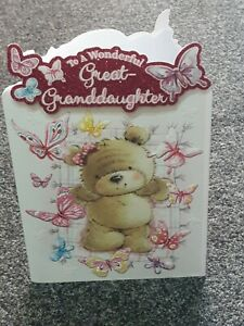 GREAT GRANDDAUGHTER HAPPY BIRTHDAY CARD CUTE  MODERN GREAT GRANDAUGHTER