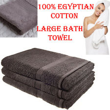 3 X LUXURY 100% Egyptian Cotton Towels Bath Sheets Large Shower Black Towel