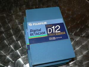 FUJIFILM Digital Betacam D321 D12 3 Stück Professional Videotape NEU