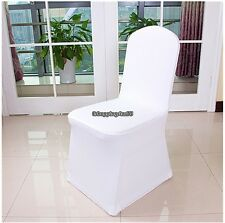 White 100Pcs Spandex Folding Chair Covers Wedding Party Banquet Event Seat
