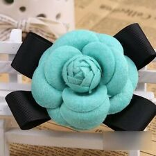 Camellia Flower Shaped Brooches Decorative Female Clothes Pins Clasp Party Dress