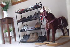 metal shoe/boot rack - 4 tier - Handmade at THE IRON MILL UK - vintage style