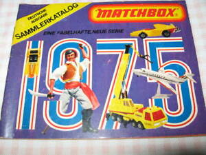 Matchbox Sammlerkatalog Deutschland 1975 64 S. Matchbox Katalog