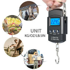 110lb/50kg Electronic Scale Digital Fishing Postal Hanging Hook Portable Balance