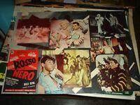 Rot E Schwarz Fotobusta Original 1954 Rascel Klare