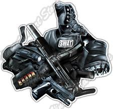 """SWAT Police Officer Gun Fire Arms Vest Boots Car Bumper Vinyl Sticker Decal 4.6"""""""