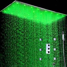 Thermostatic Shower 500*1000MM Ceiling Rainfall LED Shower Head Massage Body Set