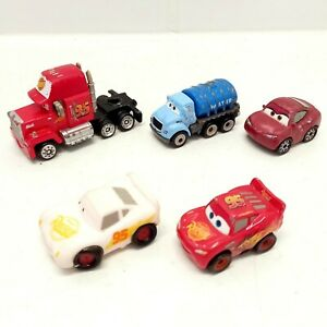 Disney Pixar Cars Toy Vehicles x 5 With Colour Changing Car