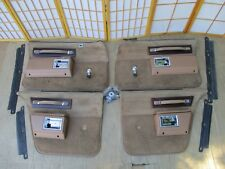 77-90 Caprice Delta 88 LeSabre Parisienne TAN 4DR Manual Crank Door Panel SET