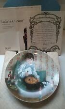 "NEW ""LITTLE JACK HORNER"" COLLECTOR PLATE MOTHER GOOSE BRADFORD EXCHANGE COA"