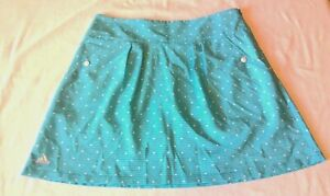 Adidas Women's ClimaCool Golf Tennis Skirt Skort Shorts Blue/White Sz 4 NEW NWT