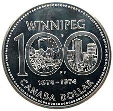 1974 CANADA SPECIMEN Winnipeg CENTENNIAL PROOF SILVER  DOLLAR COIN KM#88A