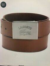 New NWT Lacoste Logo Plaque Leather Belt Size 36