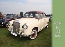 Postkarte >   Oldtimer Mercedes 180 D Ponton <