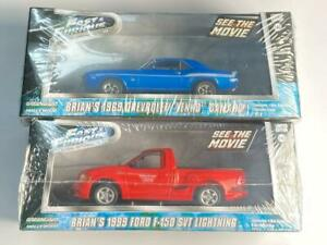 GREENLIGHT FAST & FURIOUS BRIAN'S DIECAST MODEL CARS 1:43 - BOTH CARS INCLUDED