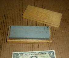Vintage AMT Wood Box Sharpen Sharpening Stone,2 Grits,Razor Hone,Knife,Sword or-