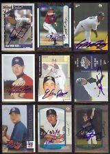 (9) KOREAN  - Mixed SIGNED /  AUTOGRAPH Baseball Card LOT