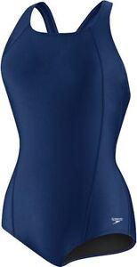 Speedo Women's Powerflex Conservative Ultraback Swimsuit, Nautical Navy sz 12